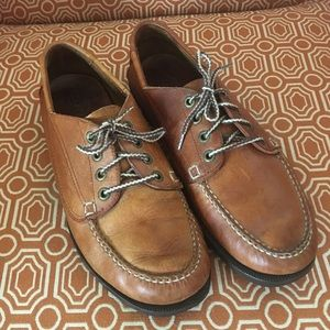COLORADO Men's brown leather top siders